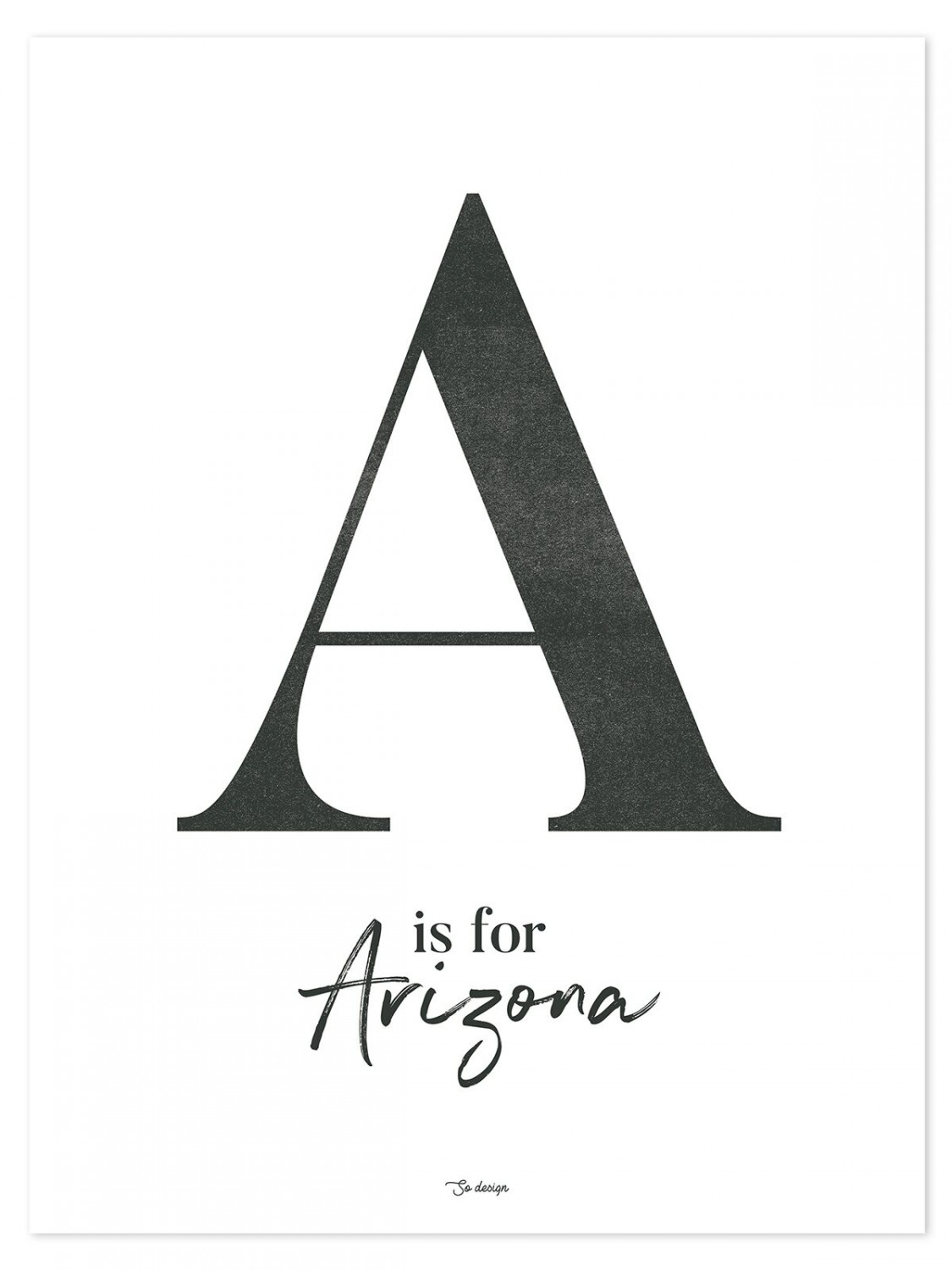 Affiche « A is for Arizona » - Lilipinso