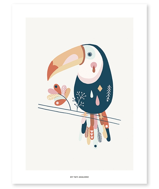 Affiche Toucan Pastel - Lilipinso