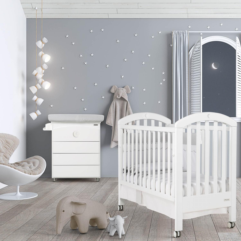 free chambre bb lit et commode white moon swarovski de. Black Bedroom Furniture Sets. Home Design Ideas