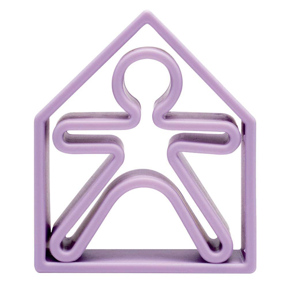 Jouet forme ludique 1 kid + 1 house Violet PASTEL COLLECTION - Dëna