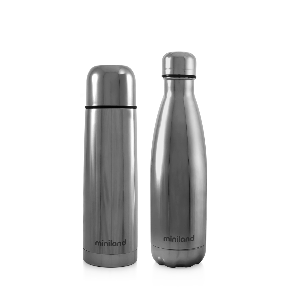 Kit thermoset bouteille 500 ml  MYBABY&ME Silver - Miniland