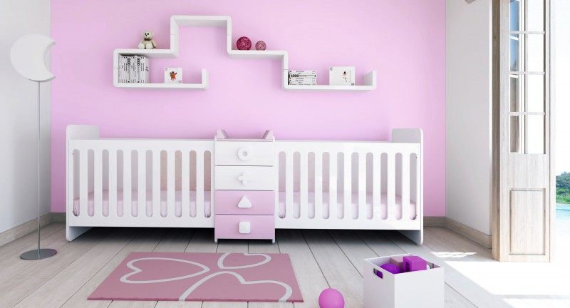 Lit bébé évolutif pour jumeaux · Maths Twin de Alondra, lits pour ...