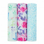 Lot de 3 maxi-langes Watercolour Garden Roses - aden+anais