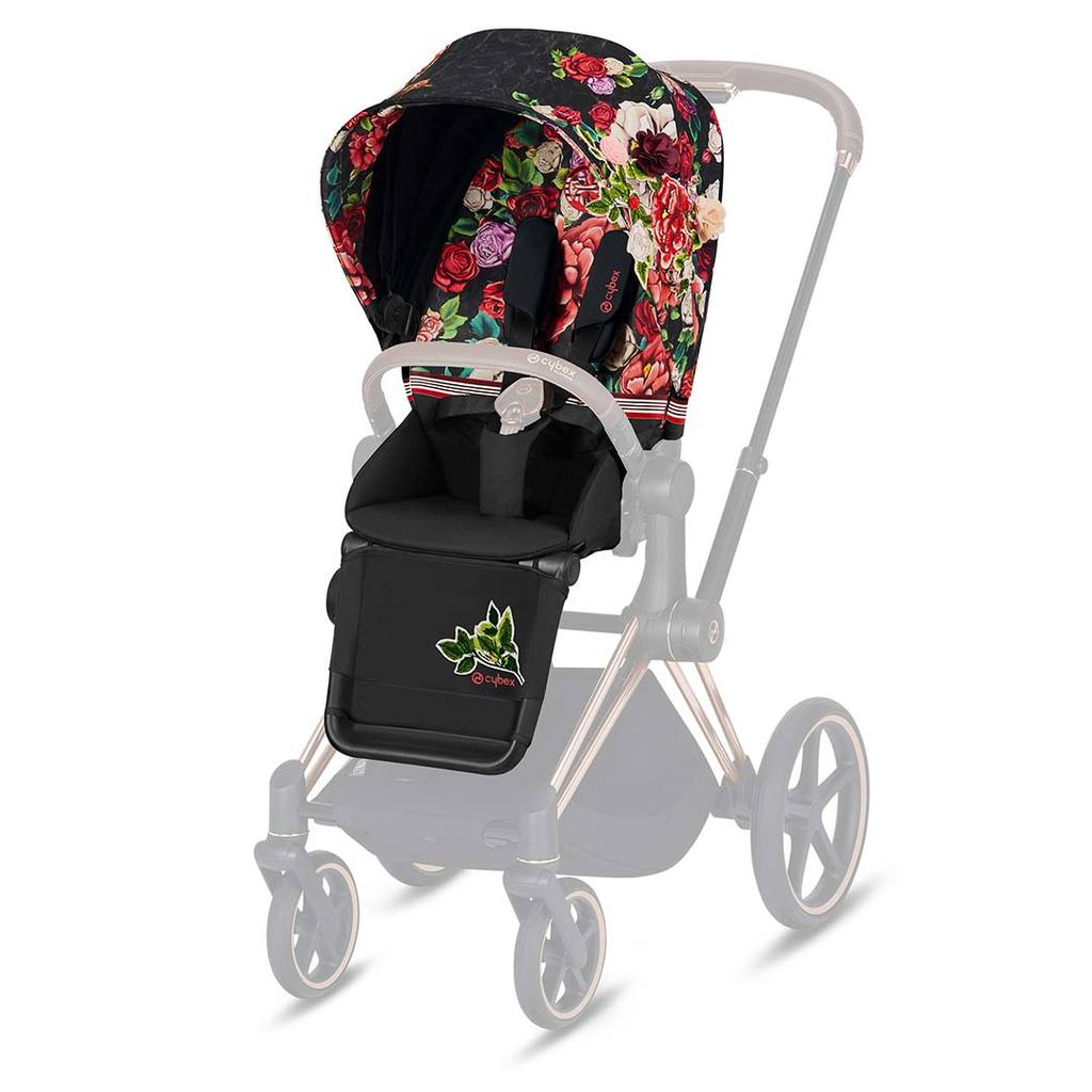 Pack Siège PRIAM Collection Fashion | Spring Blossom Dark - Cybex